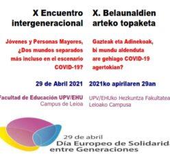 Publicación del X Encuentro Intergeneracional